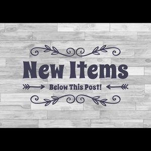 New Items Following This Post!